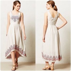 Anthro Holding Horses Cassie Embroidered Dress